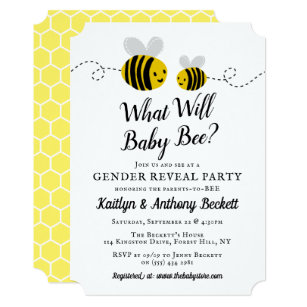 Bumble Bee Invite Bee Gender Reveal Invitation What Will