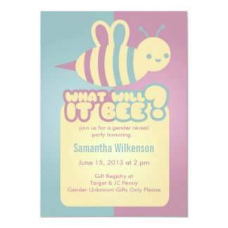 What Will It Bee?  Baby Shower Invitations