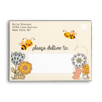 What will it Bee Gender Reveal Baby Shower 5x7 Envelope
