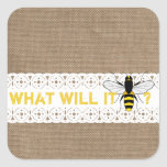 What Will It Bee? Gender Reveal Party Sticker