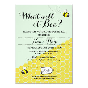 What Will It Bee Invitations Zazzle