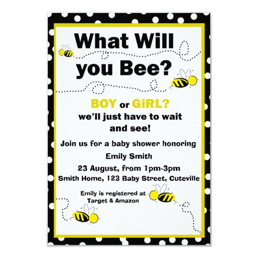What Will You Bee Baby Shower Invite
