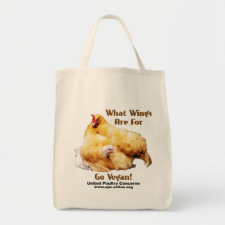 What Wings Are For - Go Vegan Tote Bag