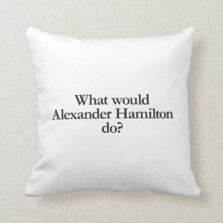 what would alexander hamilton do throw pillow
