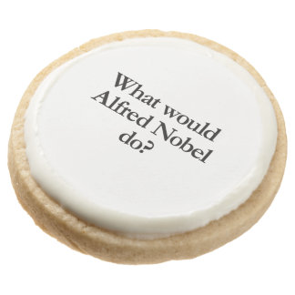 what would alfred nobel do round premium shortbread cookie