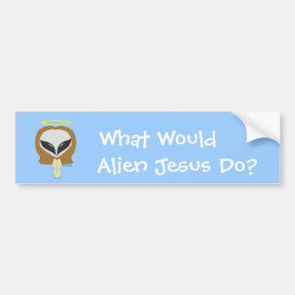 What Would Alien Jesus Do? Bumper Sticker