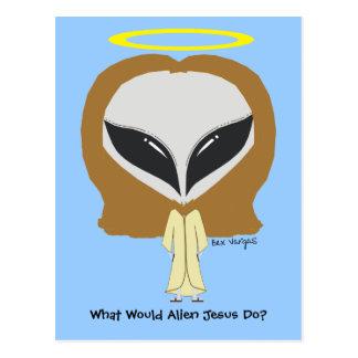 What Would Alien Jesus Do? Postcard