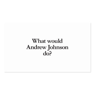 what would andrew johnson do business card template