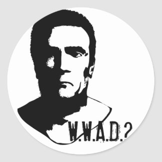 What would Arnold Do? Classic Round Sticker