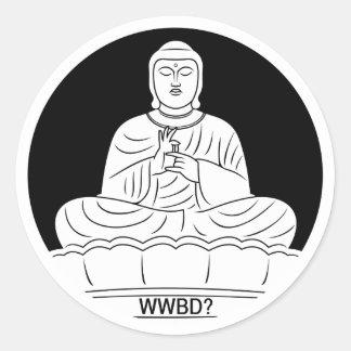 What Would Buddha Do? Classic Round Sticker