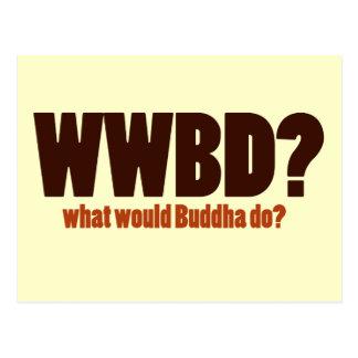 What would Buddha do Postcard