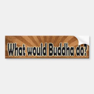 WHAT WOULD BUDDHA DO? WWBD CAR BUMPER STICKER