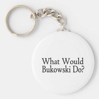 What Would Bukowski Do Basic Round Button Keychain