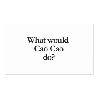 what would cao cao do Double-Sided standard business cards (Pack of 100)