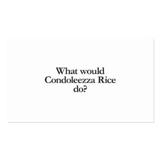 what would condoleezza rice do business card templates