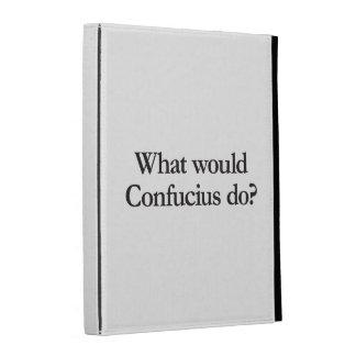 what would confucius do iPad folio case
