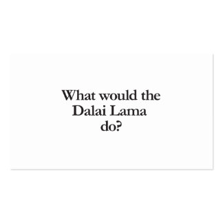 what would dalai lama do business card template