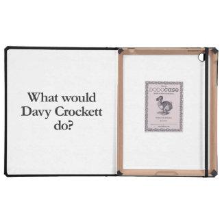 what would davy crockett do iPad folio cases