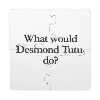 what would desmond tutu do puzzle coaster