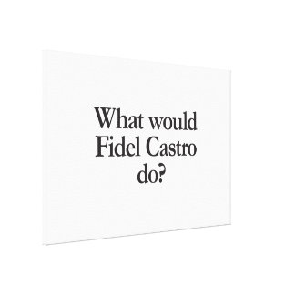 what would fidel castro do canvas print