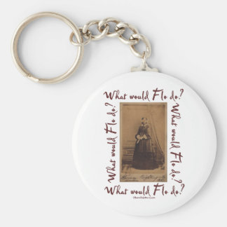 What would Flo Do? Florence Nightingale Key Chain