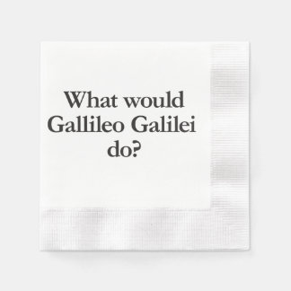 what would gallileo galilei do coined cocktail napkin