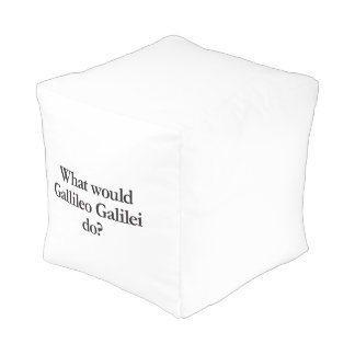 what would gallileo galilei do cube pouf