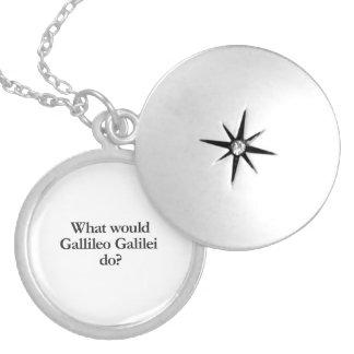 what would gallileo galilei do round locket necklace