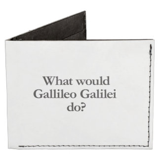 what would gallileo galilei do tyvek® billfold wallet