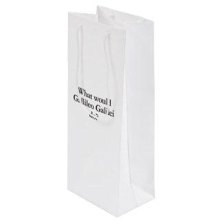 what would gallileo galilei do wine gift bag
