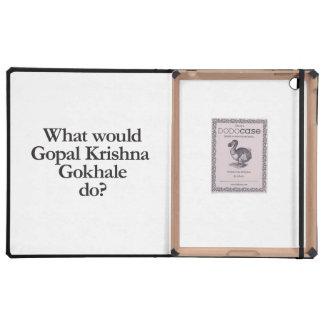 what would gopal krishna gokhale do iPad cases