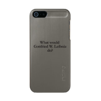 what would gottfried w leibniz do metallic phone case for iPhone SE/5/5s