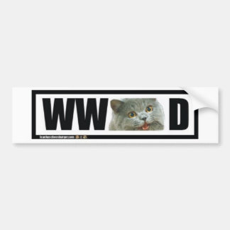 What Would Happy cat Do? Car Bumper Sticker