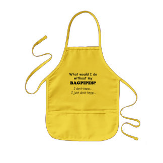 What Would I Do, Bagpipes Kids' Apron
