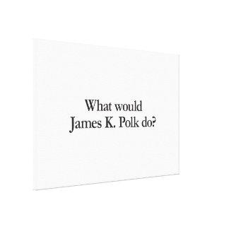 what would james k polk do canvas prints