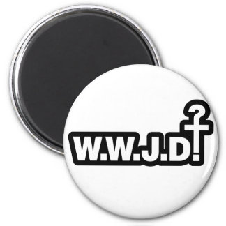 What Would Jesus Do? 2 Inch Round Magnet