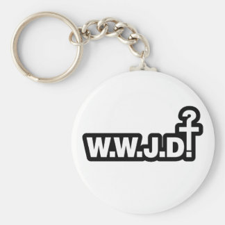 What Would Jesus Do? Basic Round Button Keychain