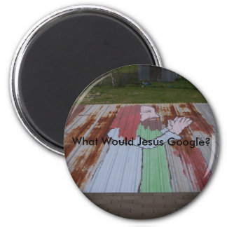 What Would Jesus Google? 2 Inch Round Magnet