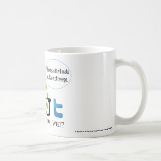 """What Would Jesus Tweet"" with Speech Bubble Coffee Mugs"