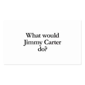 what would jimmy carter do Double-Sided standard business cards (Pack of 100)