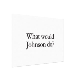 what would johnson do gallery wrap canvas