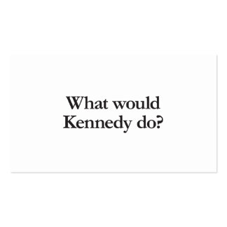 what would kennedy do Double-Sided standard business cards (Pack of 100)