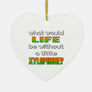 What would life be without a little Xylophone ? Double-Sided Heart Ceramic Christmas Ornament