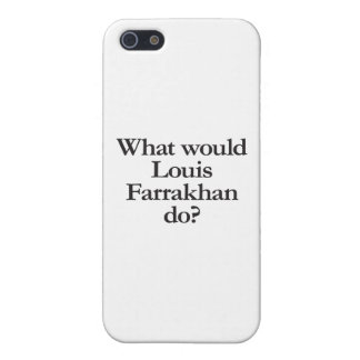 what would louis farrakhan do iPhone 5/5S cover
