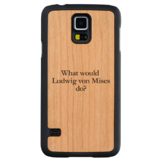 what would ludwig von mises do carved® cherry galaxy s5 slim case