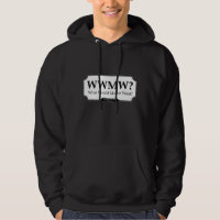 'What Would Ma'am Want?' men's hoodie LIGHT