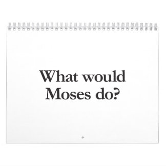 what would moses do wall calendars