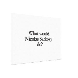 what would nicolas sarkozy do canvas print