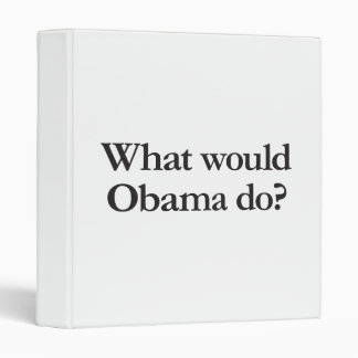 what would obama do vinyl binders