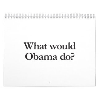 what would obama do wall calendars